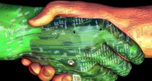 מיכאל לייטמן - ידיים לחיצת ים מחשב רובוט איש