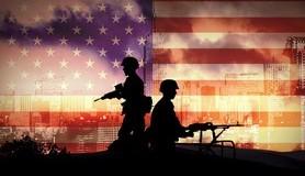 """מיכאל לייטמן - ארה""""ב חיילים אנשים דגל"""
