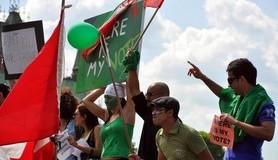 מיכאל לייטמן - איסלאם אנשים הפגנה