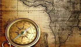 הרב לייטמן - מפה עולם מצפן ישן