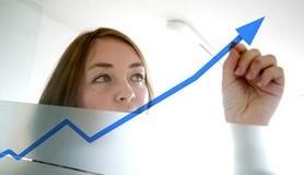 חכמת הקבלה - אישה גרף חץ סטטיסטיקה מדד