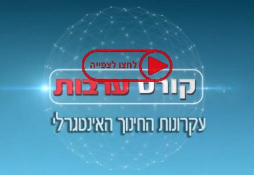 קורס ערבות, עקרונות החינוך האינטגרלי, 6.03.2013